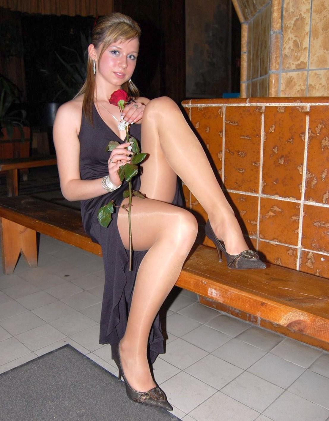 Brunette MILF Sinn Sage sliding microskirt and panties over sexy butt  17194