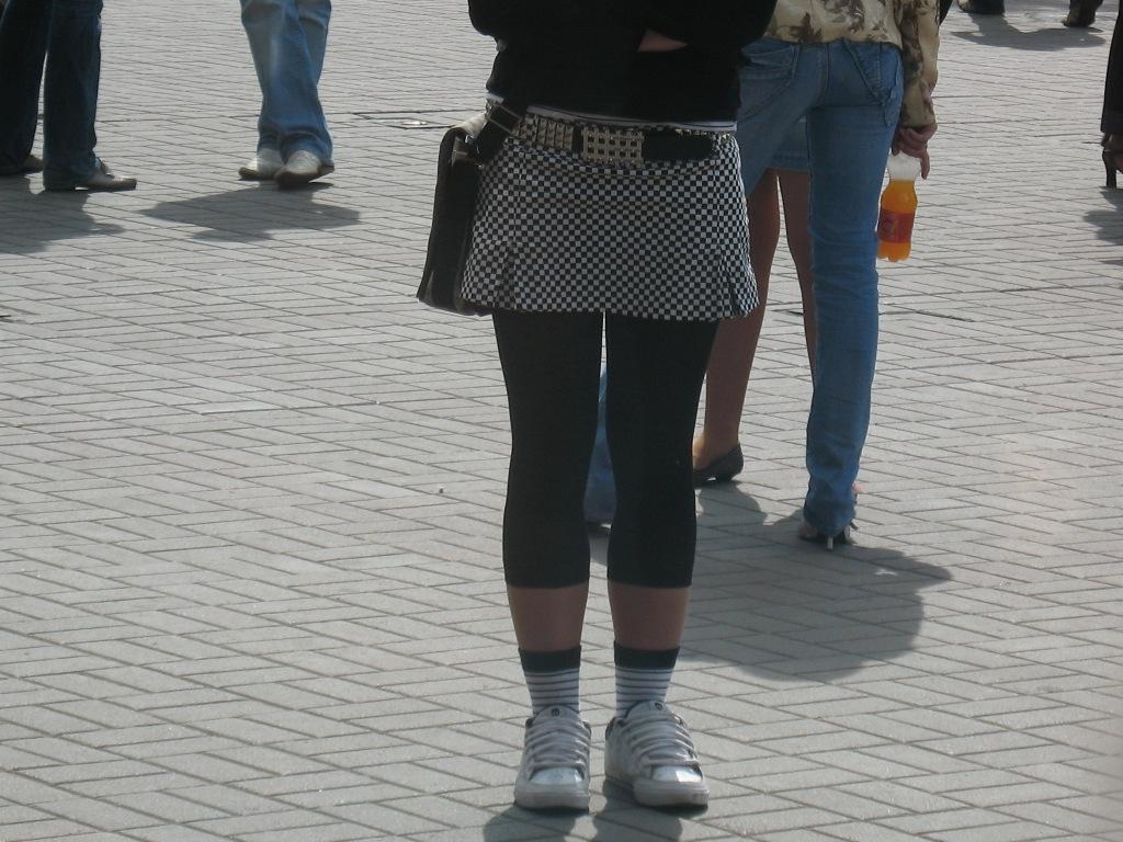 Юбка Бело Черная